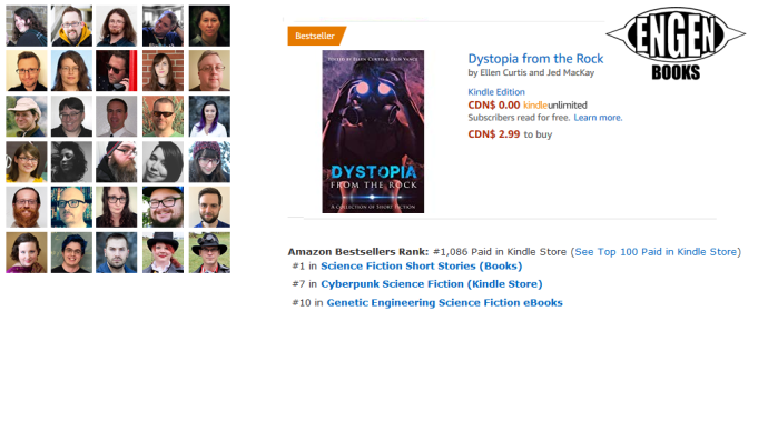 'Dystopia from the Rock' becomes Amazon Bestseller in multiple categories!
